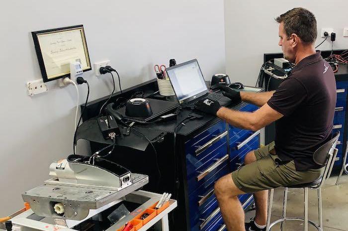 Segway service by Brett Walton at his desk