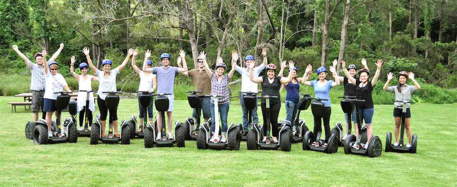 Group of people on a Segway tour in Australia