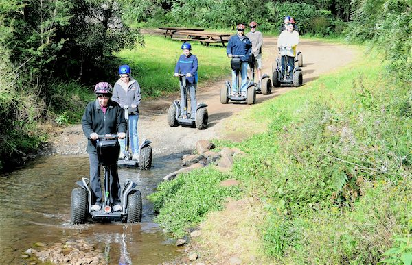 Segway tours in a hospitality business